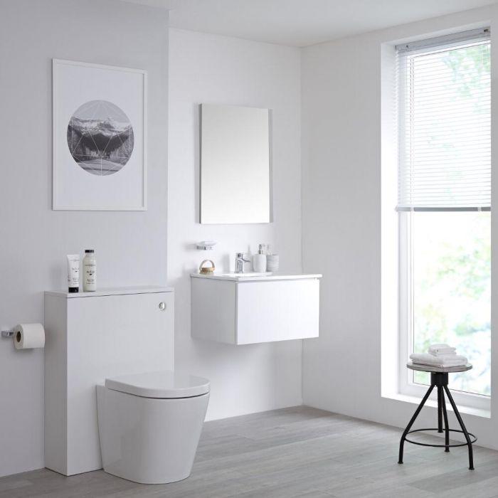 Newington - Waschtisch mit Unterschrank 600mm & WC mit Vorwandelement - Mattweiß