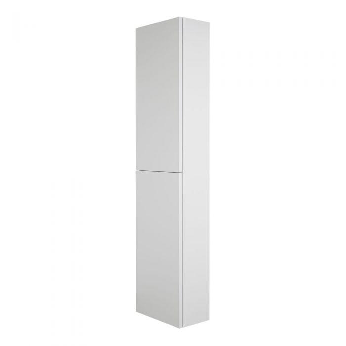 Vertikaler Wand-Badschrank 350x1500mm, Mattweiß - Newington
