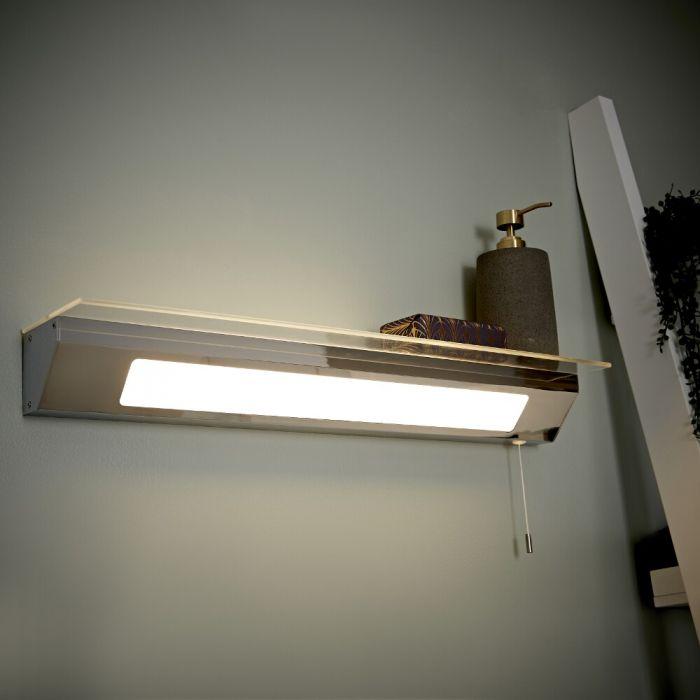 Achen LED Wandleuchte mit Ablage IP44