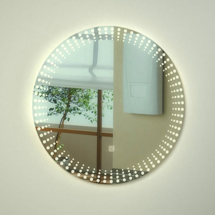 Saimaa LED Badezimmerspiegel mit Berührungssensor  - ø600mm x 50mm