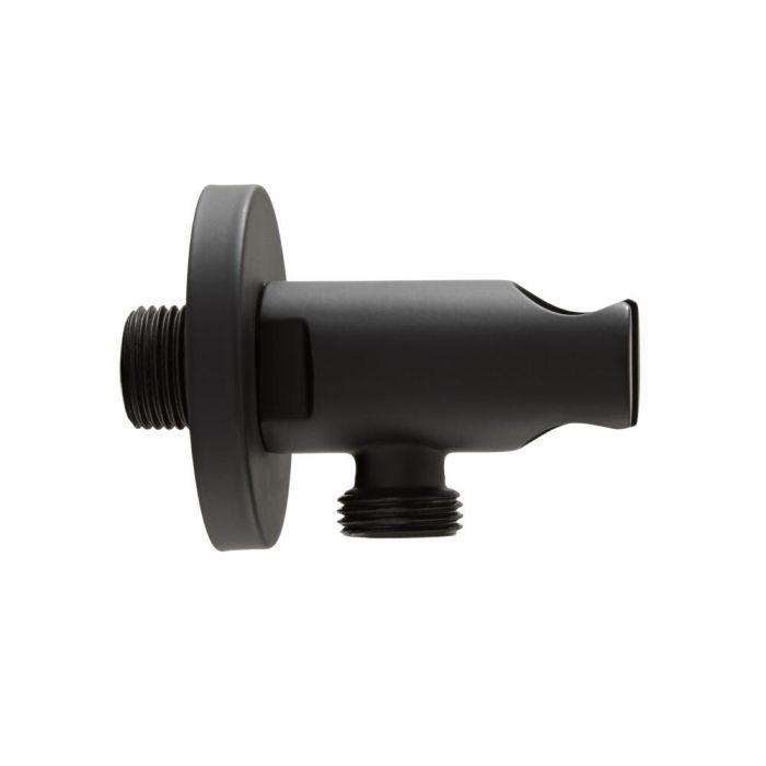 Nox - Schwarzer runder Auslassbogen und Brausehalterung