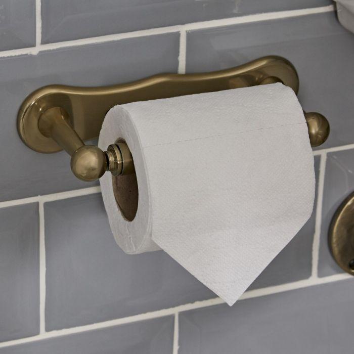 Nostalgie Toilettenpapierhalter, antikes Gold - Alice