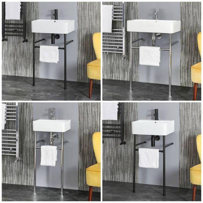 Waschbecken mit Metallgestell – Größe und Finish wählbar – Exton