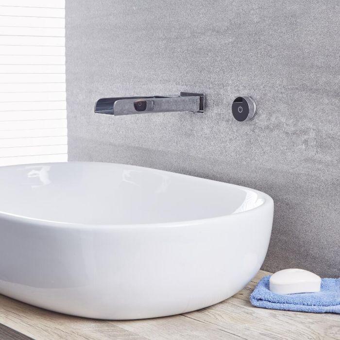 Waschtisch- oder Badewannenhahn Digital  in Chrom, Wandmontage - Parade