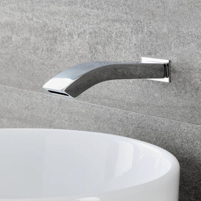 Razor Wand-Einlauf für Waschtische & Wannen, Chrom, 1/2 Zoll