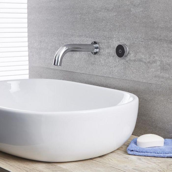 Waschtisch- oder Badewannenhahn Digital in Chrom, Wandmontage - Mirage