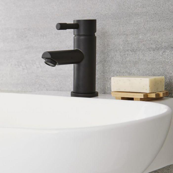 Schwarze Einhebel-Mischbatterie für Waschbecken - Nox