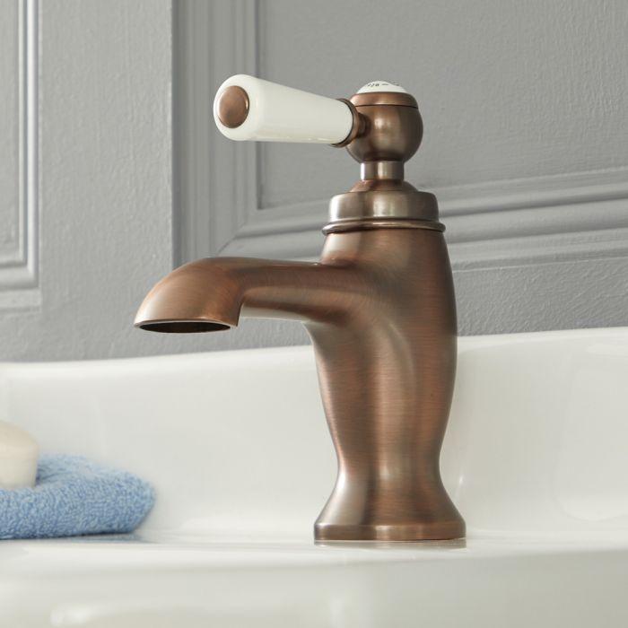 Elizabeth - Traditionelle Einhebel-Waschtischarmatur mit Hebelgriff - Geölte Bronze
