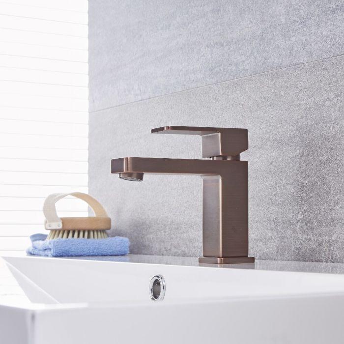 Einhebel-Waschtischarmatur – geölte Bronze - Kubix