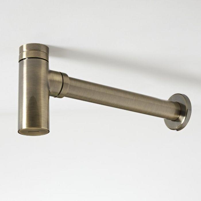 Flaschensiphon für Waschbecken Gebürstetes Gold - Clarus