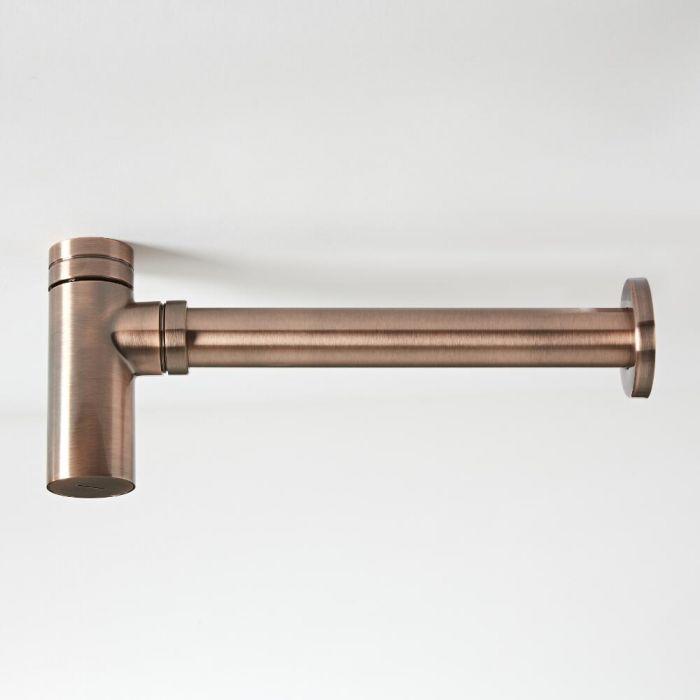 Flaschensiphon für Waschbecken Gebürstetes Kupfer - Amara