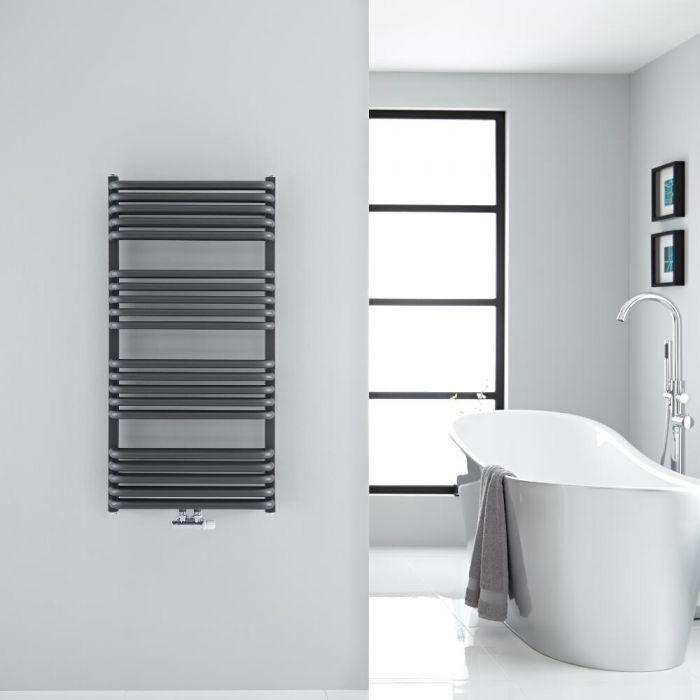 Design Badheizkörper mit Mittelanschluss, Anthrazit 1000mm x 500mm 986W – Arch
