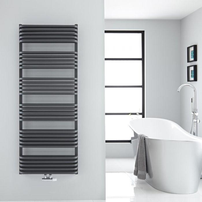 Design Badheizkörper mit Mittelanschluss, Anthrazit 1533mm x 600mm 1775W – Arch