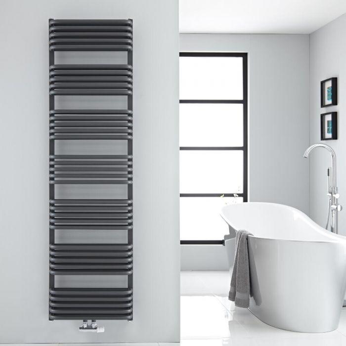 Design Badheizkörper mit Mittelanschluss, Anthrazit 1800mm x 500mm 1743W – Arch