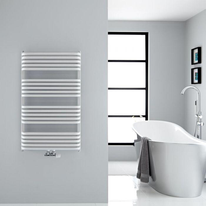 Design Badheizkörper mit Mittelanschluss, Weiß 1000mm x 600mm 1157W – Arch