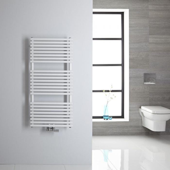 Handtuchheizkörper Mittelanschluss Vertikal Weiß 334 Watt 1065mm x 500mm - Magera