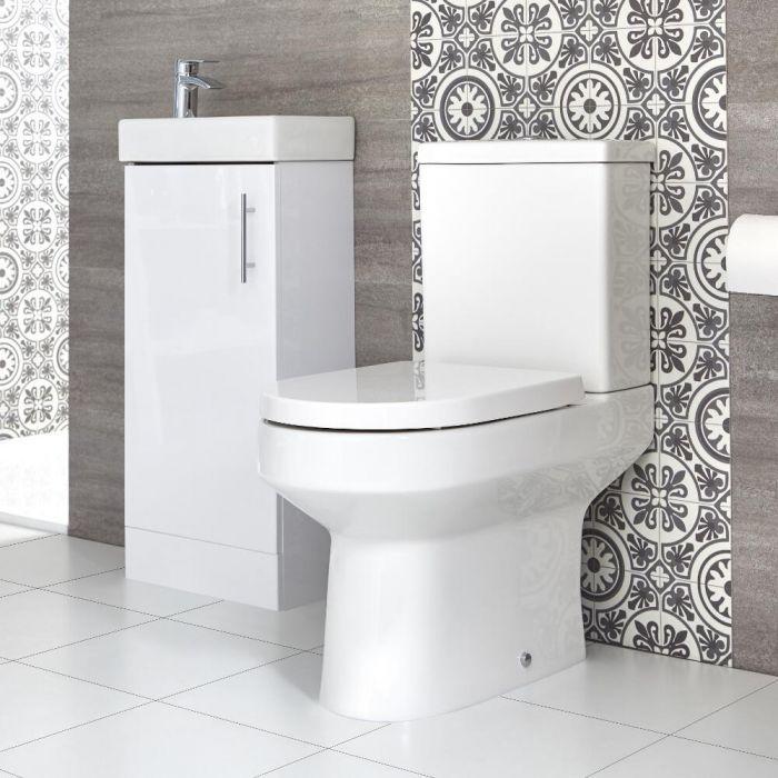 Stand-WC & Stand-Waschtisch Set, Unterschrank B 400mm Farbe wählbar - Covelly & Cluo
