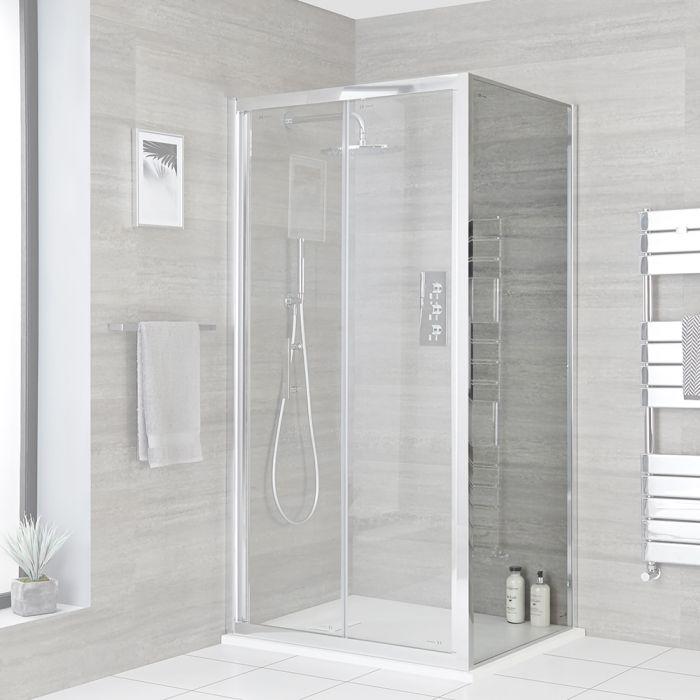 Dusch-Seitenpaneel, Chrom, Größe wählbar - Portland