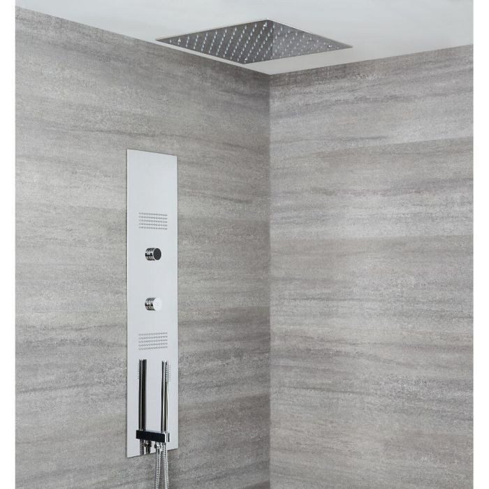 Narus Digitales Unterputz Duschpaneel mit 400x400mm Unterputz Duschkopf, Deckenmontage