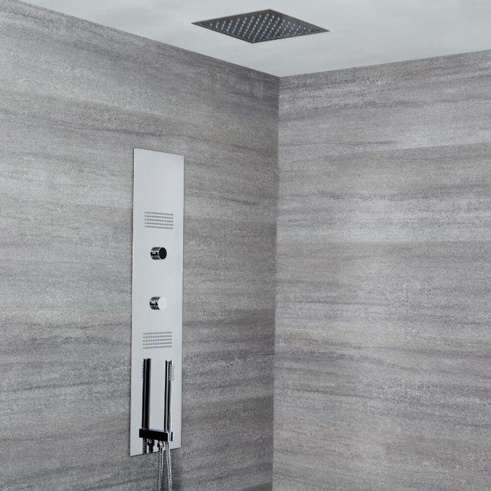 Narus Digitales Unterputz Duschpaneel mit 280x280mm Unterputz Duschkopf, Deckenmontage