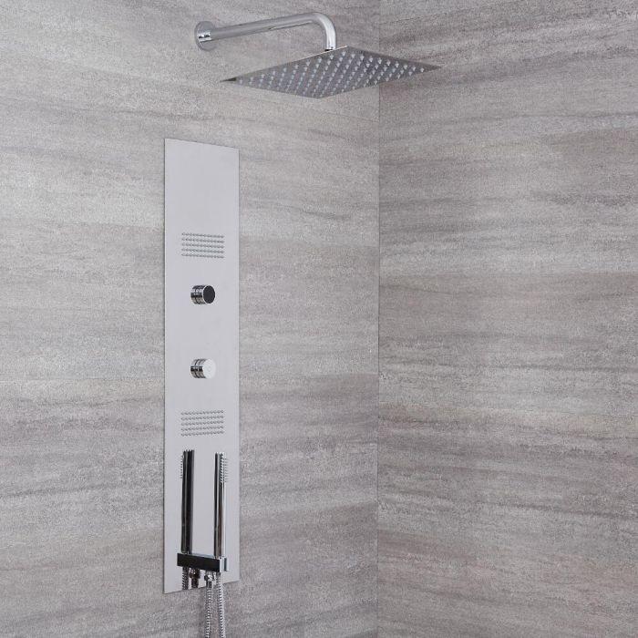 Narus Digitales Unterputz Duschpaneel mit 300x300mm Duschkopf und Wandhalterung