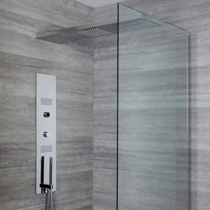 Narus Digitales Unterputz Duschpaneel mit 900mm glashaltendem Duschkopf