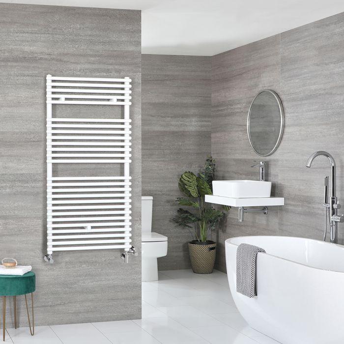 Badheizkörper Mischbetrieb Weiß 1190mm x 450mm 710W – Arno