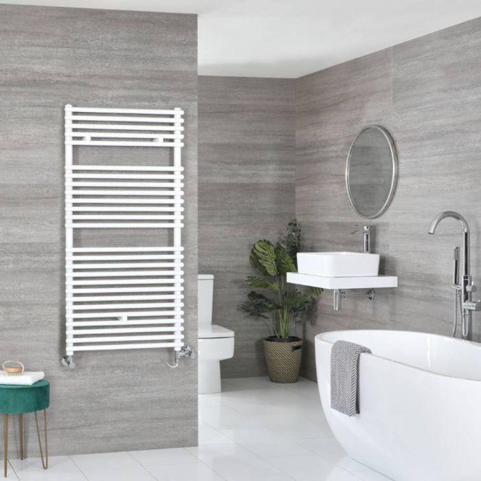 Badheizkörper Mischbetrieb Weiß 1190mm x 600mm 899W – Arno