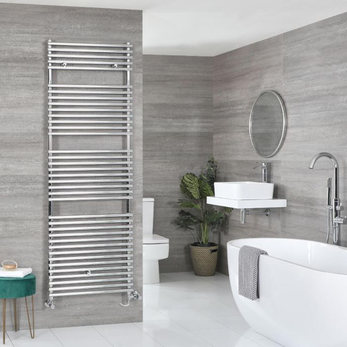 Badheizkörper Mischbetrieb Chrom Wählbare Größe – Arno