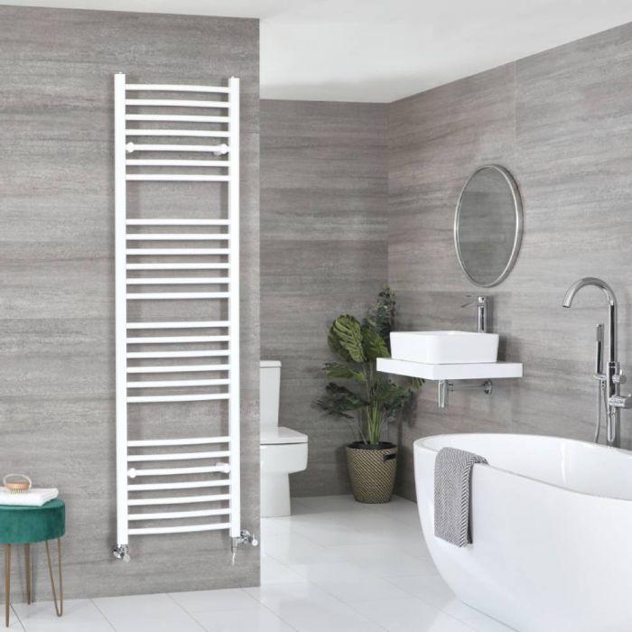 Badheizkörper Mischbetrieb Weiß Gebogen 1800mm x 500mm 921W – Ive