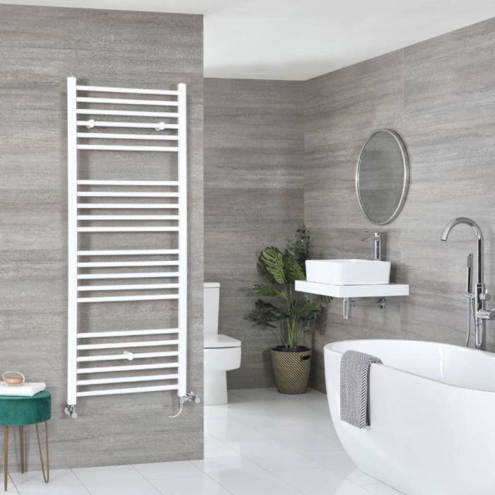 Badheizkörper Mischbetrieb Weiß Flach 1600mm x 500mm 795W – Ive