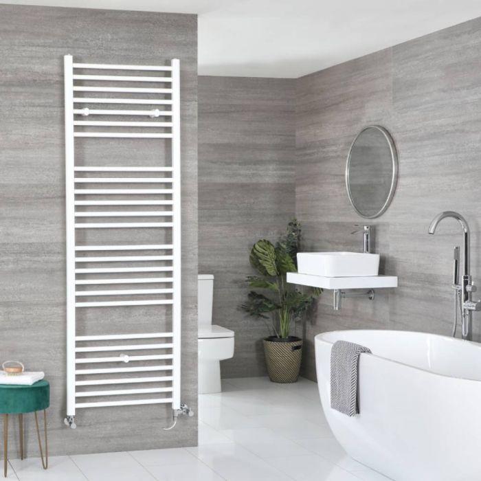 Badheizkörper Mischbetrieb Weiß Flach 1800mm x 500mm 893W – Ive
