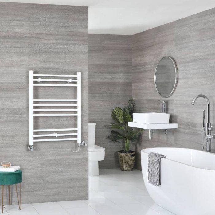 Badheizkörper Mischbetrieb Weiß Flach 800mm x 600mm 427W – Ive