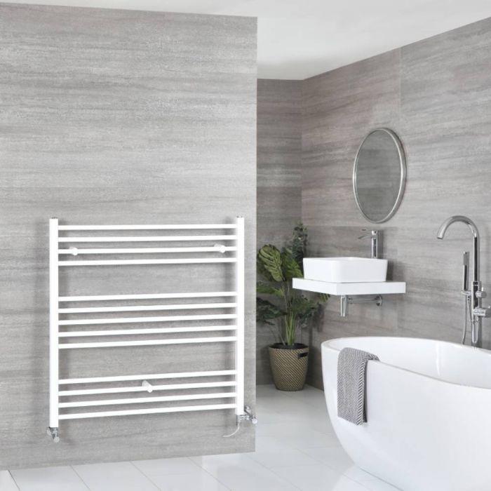 Badheizkörper Mischbetrieb Weiß Flach 1000mm x 1000mm 829W – Ive