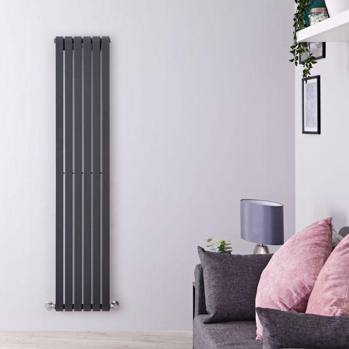Design Heizkörper Vertikal Anthrazit 1600mm x 354mm 861W (einlagig) - Sloane