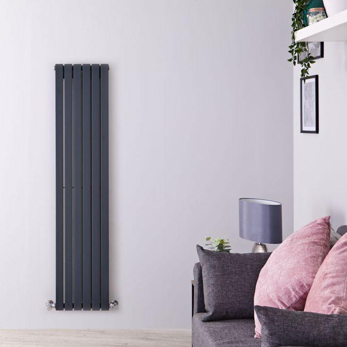 Design Heizkörper Vertikal Anthrazit 1600mm x 354mm 1193W (doppellagig) - Sloane