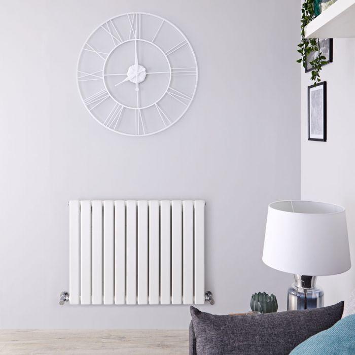 Design Heizkörper Horizontal Weiß, H 635mm, Breite wählbar - Delta