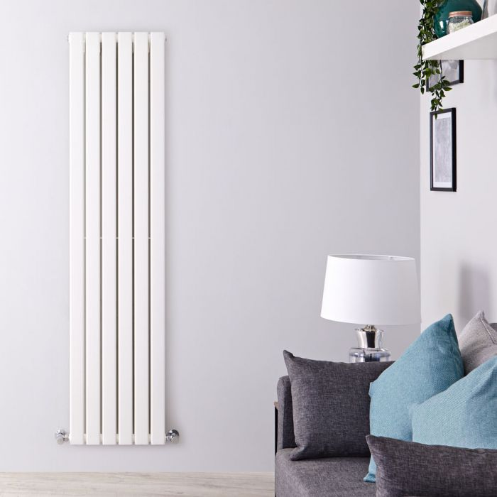 Design Heizkörper Vertikal Weiß, Größe wählbar - Delta