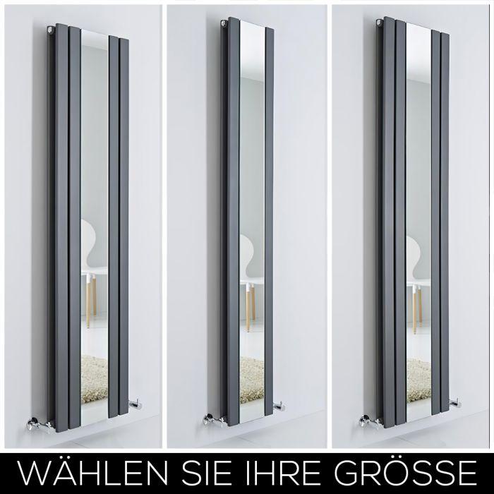 Design Heizkörper mit Spiegel Vertikal Anthrazit Alle Größen - Sloane