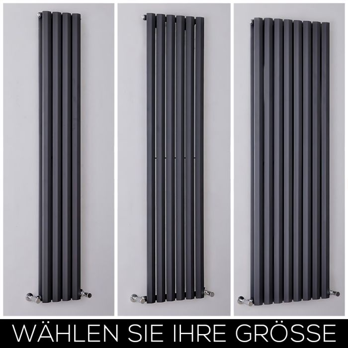 Design Heizkörper Vertikal H1780mm Anthrazit, Breite wählbar - Vital