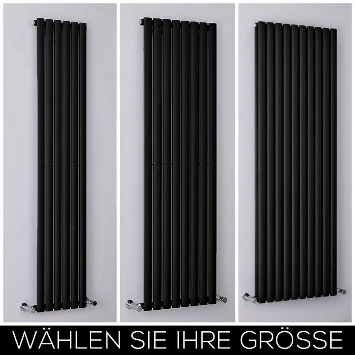 Design Heizkörper Vertikal Schwarz, Breite & Höhe wählbar - Revive