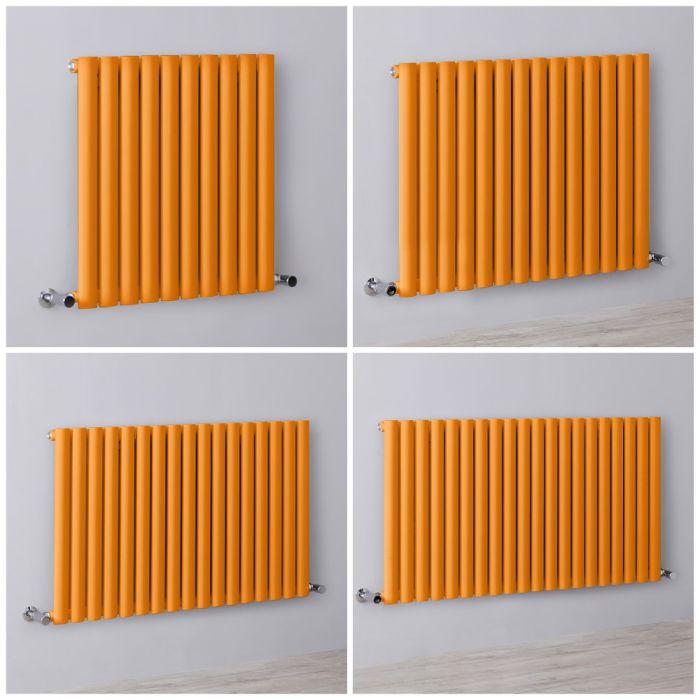 Design Heizkörper Horizontal Orange Einlagig Größe Wählbar – Revive