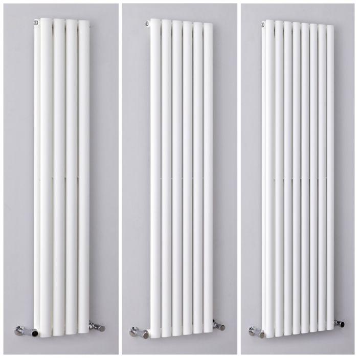 Design Heizkörper Vertikal Weiß, Größe wählbar - Revive