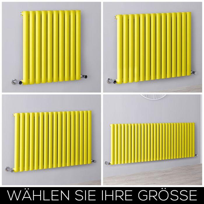 Design Heizkörper Horizontal Einlagig Gelb Größe Wählbar – Revive