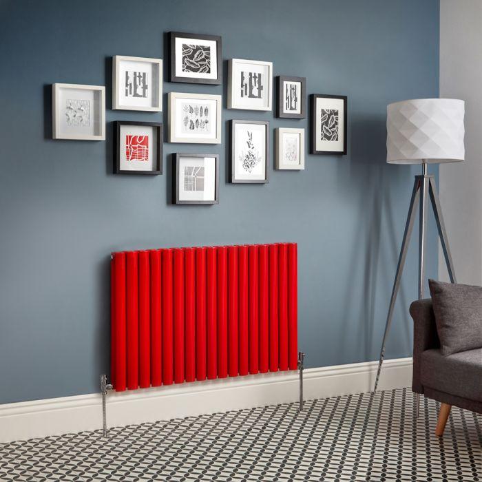 Design Heizkörper Horizontal Doppellagig Rot Revive - Größe wählbar