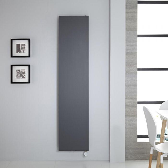 Design Flachheizkörper Elektrisch Vertikal Anthrazit 1800mm x 400mm - Rubi inkl. 1000W Heizelement