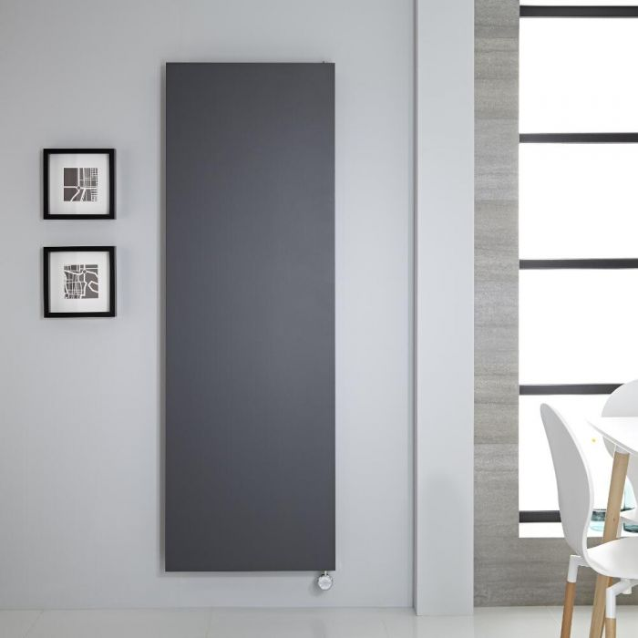 Design Flachheizkörper Elektrisch Vertikal Anthrazit 1800mm x 600mm - Rubi inkl. 1000W Heizelement