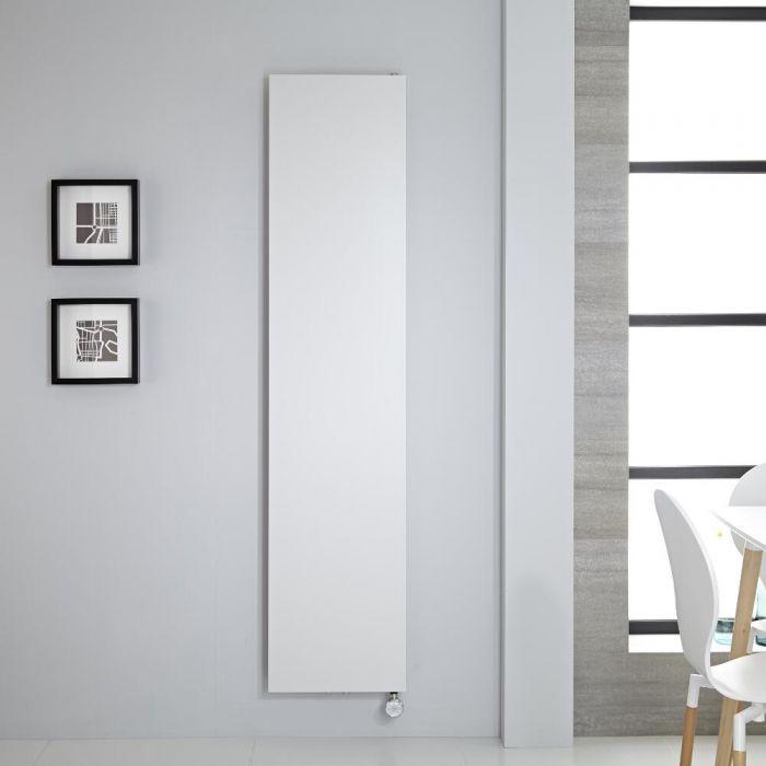 Design Flachheizkörper Elektrisch Vertikal Weiß 1800mm x 400mm, inkl. 1000W Heizelement - Rubi