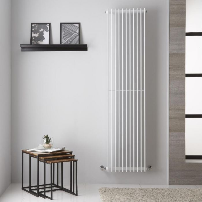 Design Heizkörper Vertikal Weiß 1800mm x 445mm 1350W - Roma
