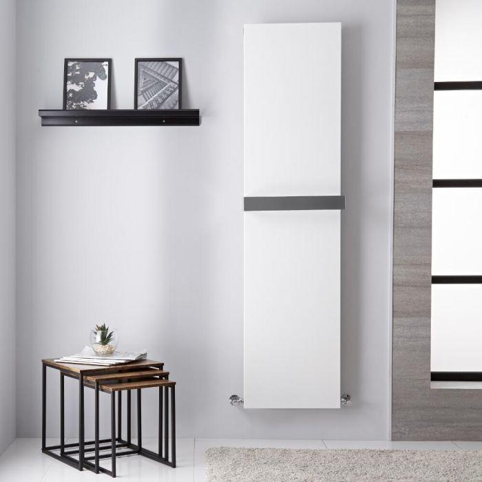 Design Heizkörper mit Handtuchstange, Mittel- und Standardanschluss - 1800mm x 450mm, 923W – Weiß – Trevi